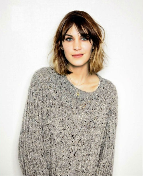 Girl crush: Alexa Chung  -Her style is amazing and I find her very inspiring.