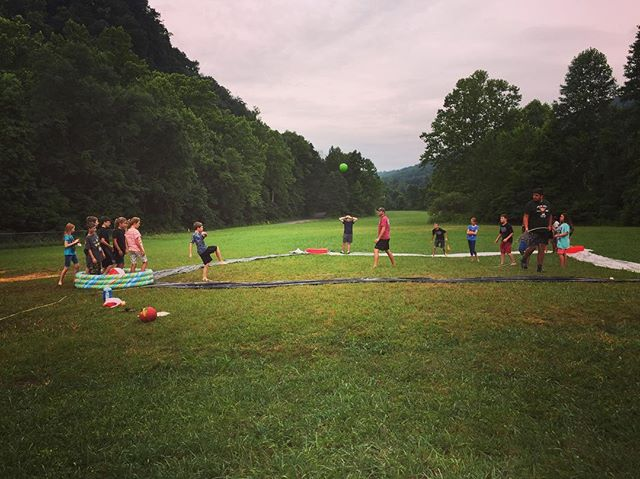 Slip and slide kick ball!! #PreTeenWeek #HRBC2k17