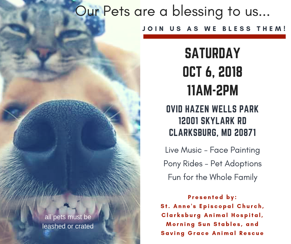 Blessing of the Animals, OVID HAZEN WELLS PARK, Saturday, Oct 6
