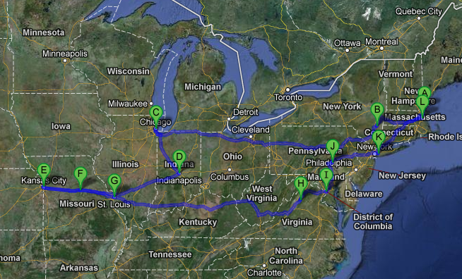 Our route.