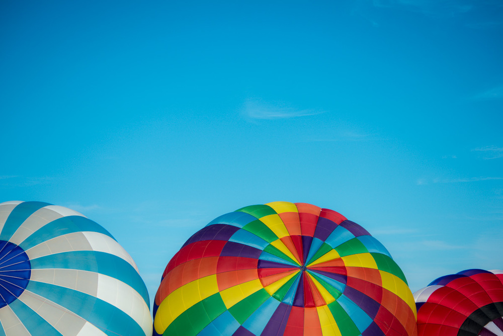 These balloons were simply beautiful with all their colors. Photographed at EAA Air Venture in Oshkosh Wisconsin.