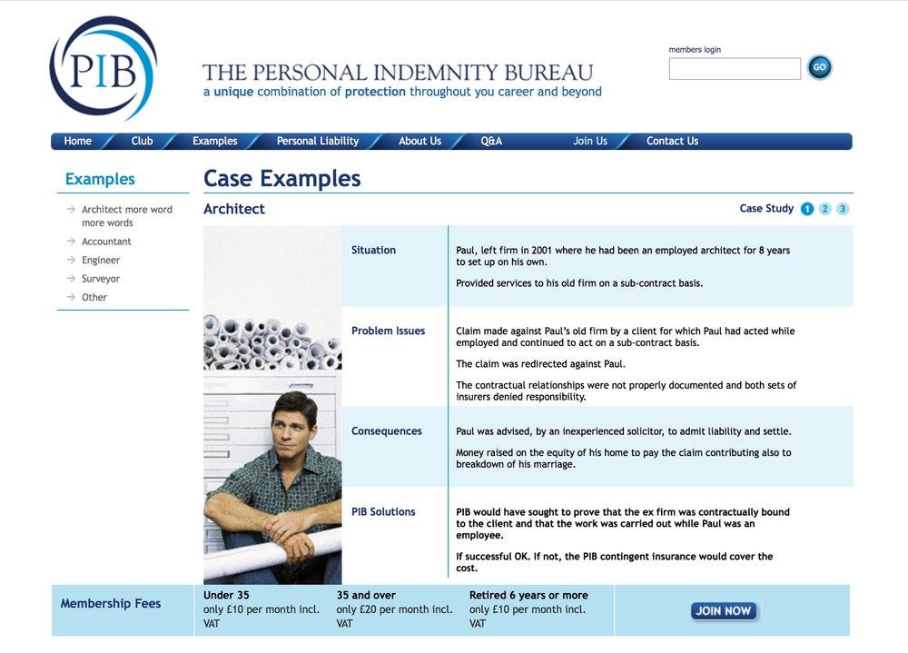 The Personal Indemnity Bureau (PIB)