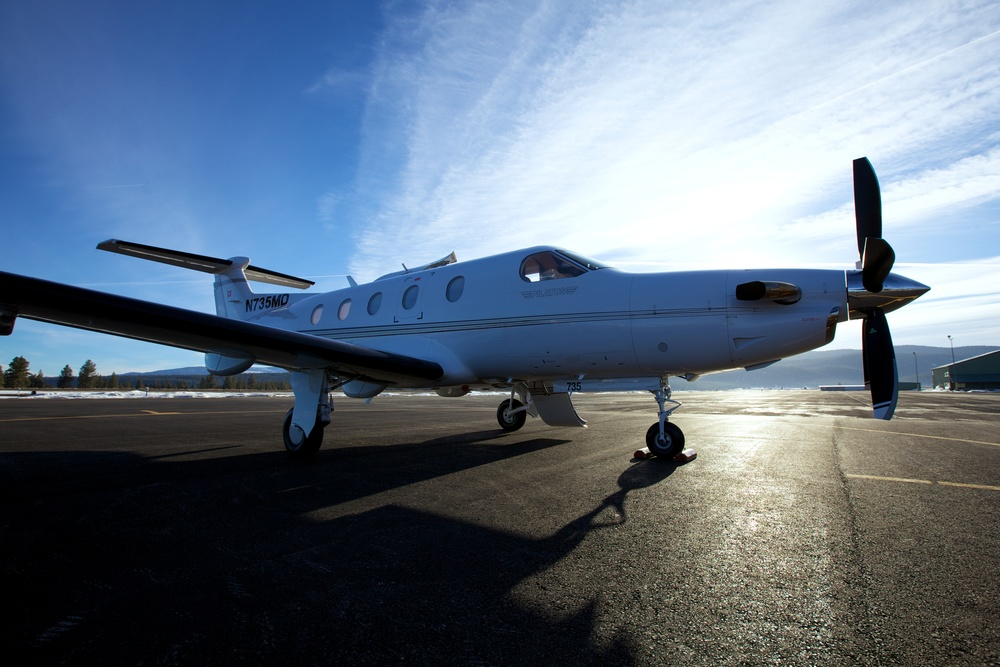 Short flights or long,  The Pilatus PC-12 is ready.