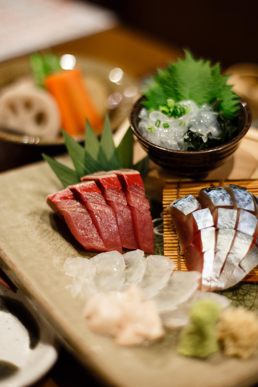 Our Sashimi Dinner inShimokitazawa