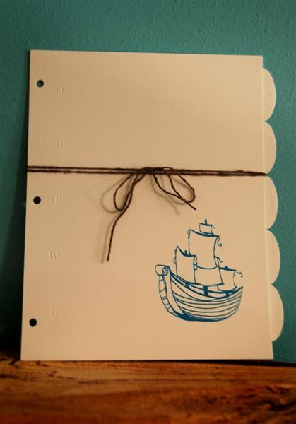 ship, tab dividers, office supplies, personalized office, screenprint