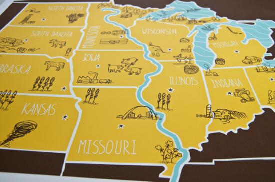 Midwest, Posters,Vintage Floral,