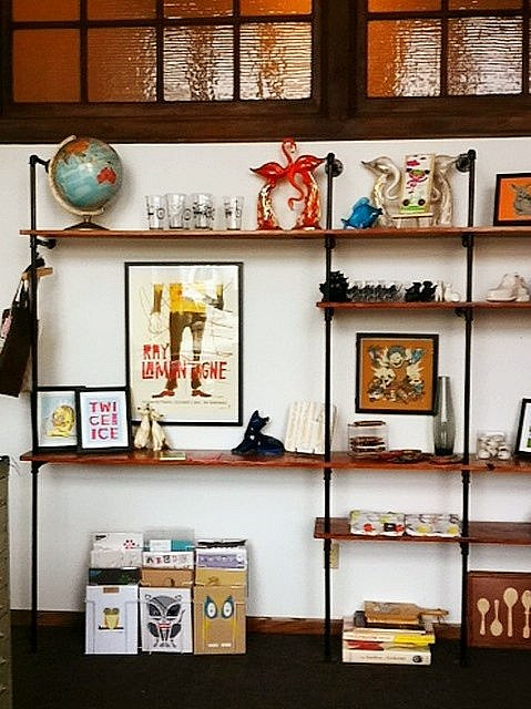 Ray LaMontagne poster, Methane Studios, modern decor, Ace Hotel shelves, DIY shelves, gig poster