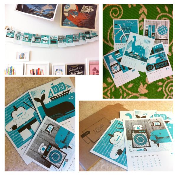 basemint, 2012, calendar, year of the dragon, screenprint calendar, des moines calendar, iowa calendar, japan, japan calendar, sumo, bike calendar, screenprint calendar