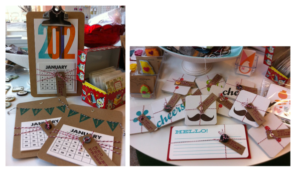 Red Velvet Press, Megan Pralle, Iowa calendar, 2012, letterpress calendar, clipboard calendar, pendant calendar, banner calendar, coaster, hello card, greeting card, letterpress card, etsy