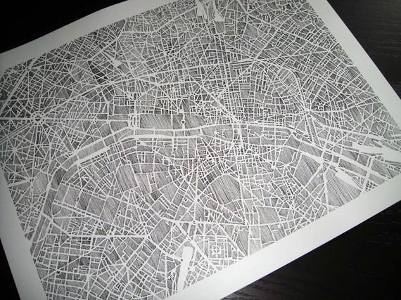 karen o'leary, o'leary, charleston, map, city map, print