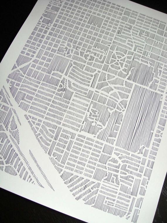 karen o'leary, o'leary, map, city map, studiokmo, studio kmo print