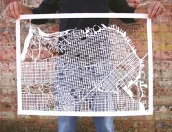 map, city map, studiokmo, studio kmo print, karen o'leary, o'leary
