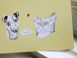 nicola rowlands, kitty card, cat card, puppy card, dog card