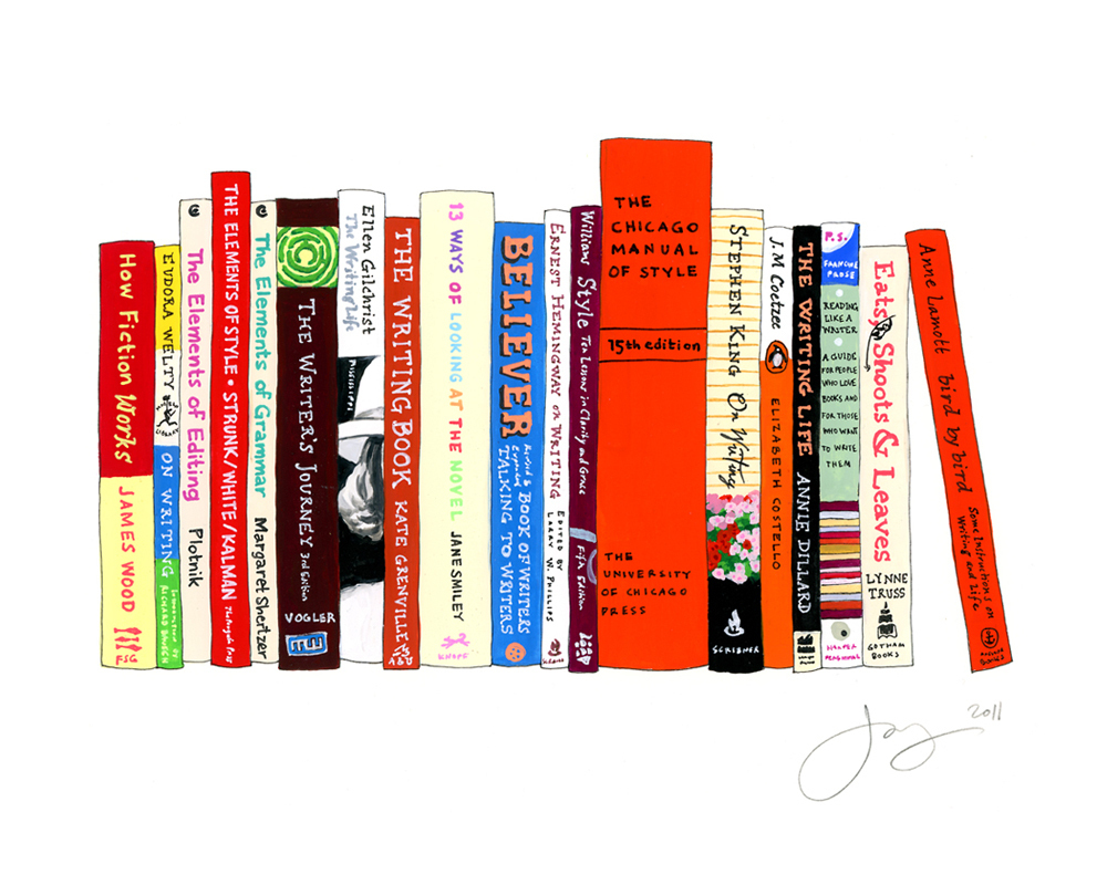 jane mount, ideal bookshelf, Manual of Style, book print, book art, library print, library art, office art, believer, easts shoots & leaves