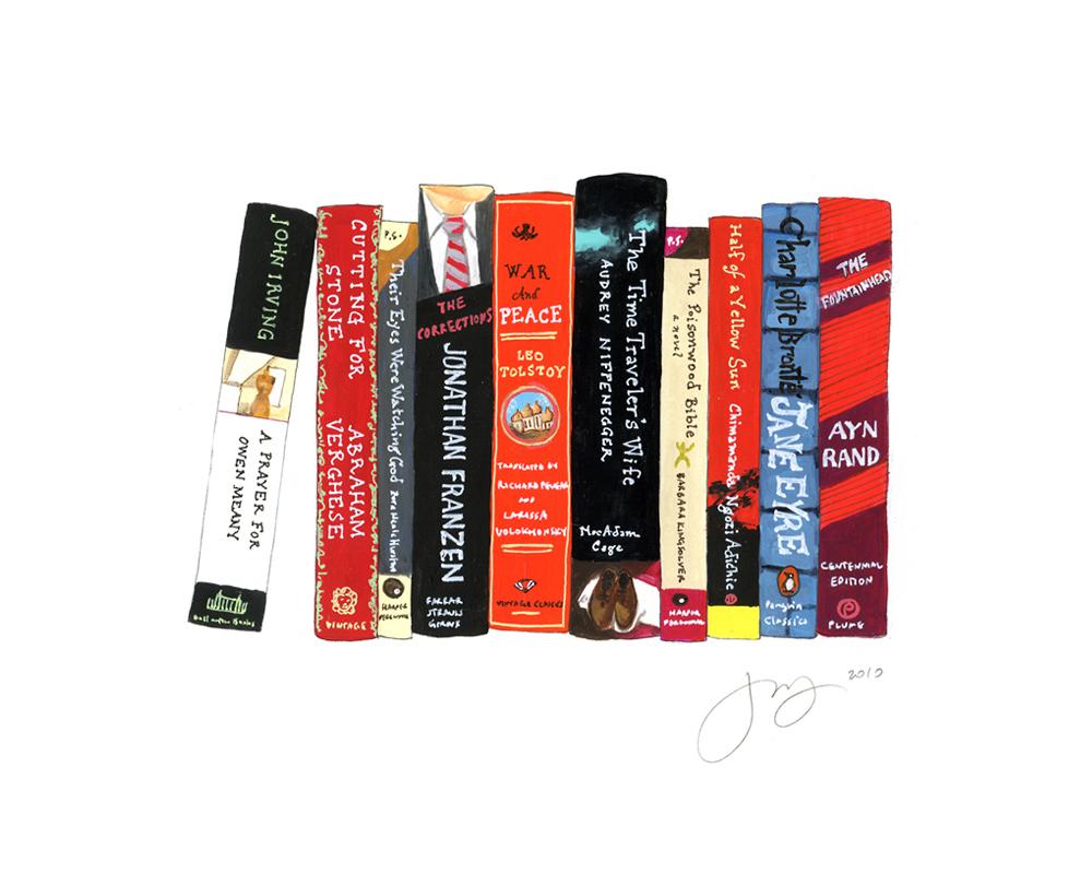 jane mount, ideal bookshelf, book print, book art, library print, library art, office art,