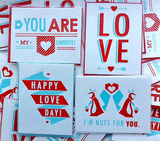 domestica, sass and peril, valentine's day cards, handmade valentines, screenprint cards, handmade cards, love cards, sweetheart cards, happy love day, you are my favorite, squirrel card, squirrel valentine's card