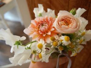 roses, bouquet, prairie, daisies