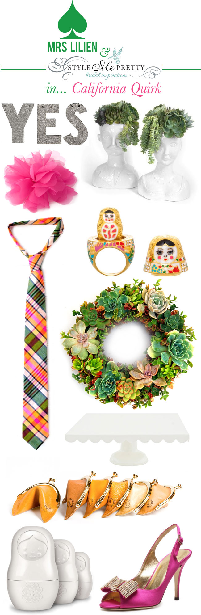 pink shoes, hens and chicks, succulents, wreaths, glitter letters, corsage, braidal, bridal decor, madras, russian doll, matryoshka, head vase, measuring cups, centerpiece ideas, kitchen decor, dining roon decor, ties, formal shoes