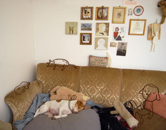 camilla engman, camillaengman, cammilia, poketo, dog on the couch, cartoon