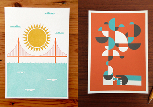 san francisco, golden gate bridge, california, san fran, san francisco print, coffee print, domestica, brent couchman, letterpress