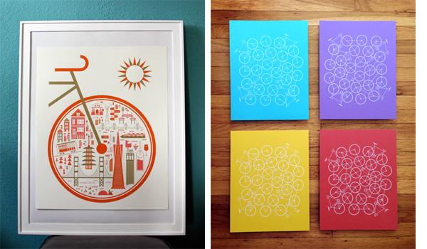 bike, bike poster, san francisco print, bike poster, san francisco poster, brent couchman, domestica