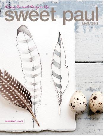 sweet paul, spring 2013, feathers, magazines, cool magazines, domestica, lotta jansdotter, mrs. meyers, cakes