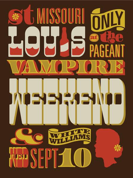 vahalla studios, st. louis, vampire weekend, gig poster