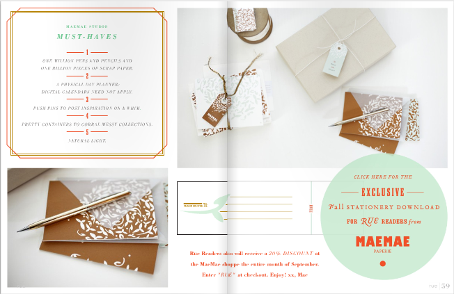 ruemagazine, rue, rue magaziine, printable notecards, printable invites, printables, grant gibson, vincente wolf