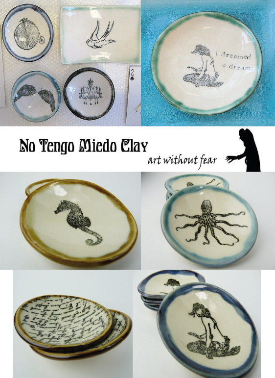 soap dishes, dishes, clay, pottery, mermaid, birdcage, dream, wings, bikes, chandelier, sea horse, seahorse, octopus, heart