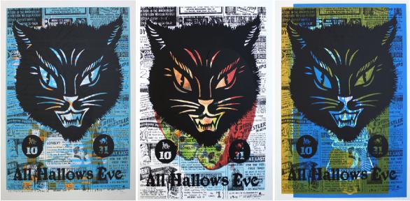 cats, hell cat, halloween, methane, methane studios, domestica, posters, walls