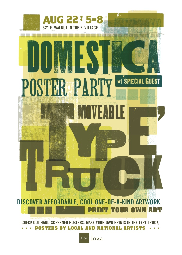 type truck, moveable type, letterpress, make a print, printing, screenprint class, screen print, gig posters, posters, hand-screened
