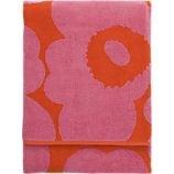 beach towel, towels, pink towel, orange towel, marimekko, merrimeko, marrimekko, merimekko