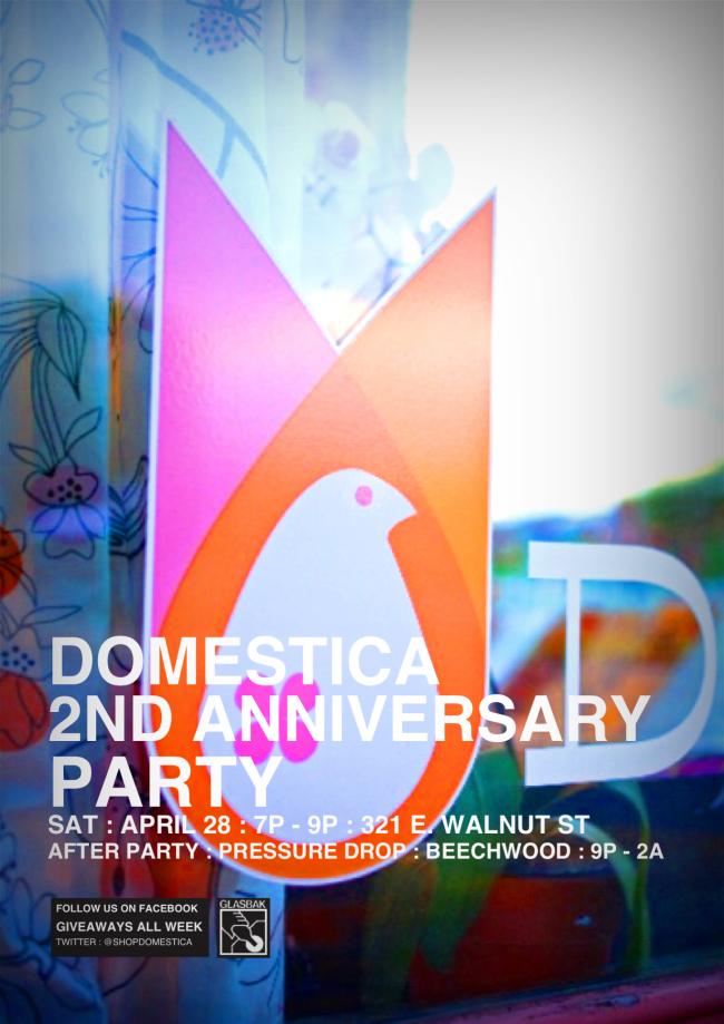 domestica, domestica logo, domesticadsm, shopdomestica, anniversary party, birthday party, pressure drop, des moines, pressure drop dsm, cool shop