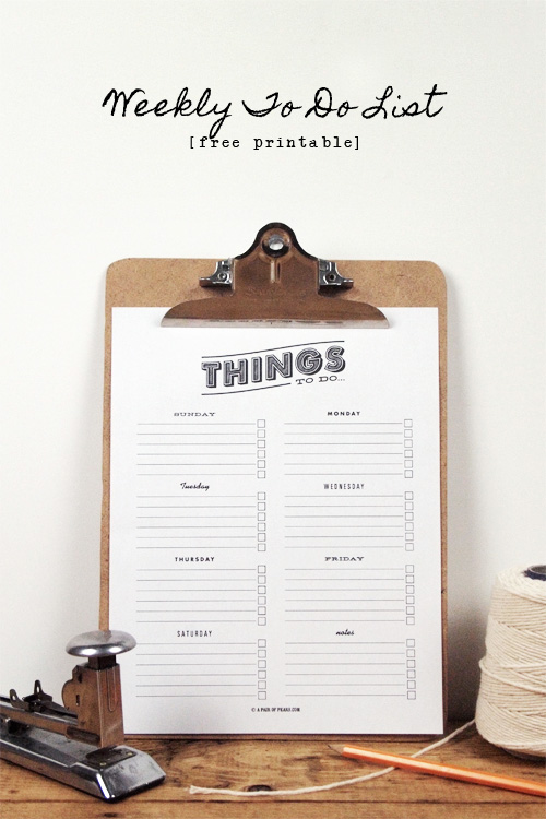 to do list, printable, free printable, organize, organization, office accessories, free office tools, get organized ideas, getting things done, pair of pears, domestica