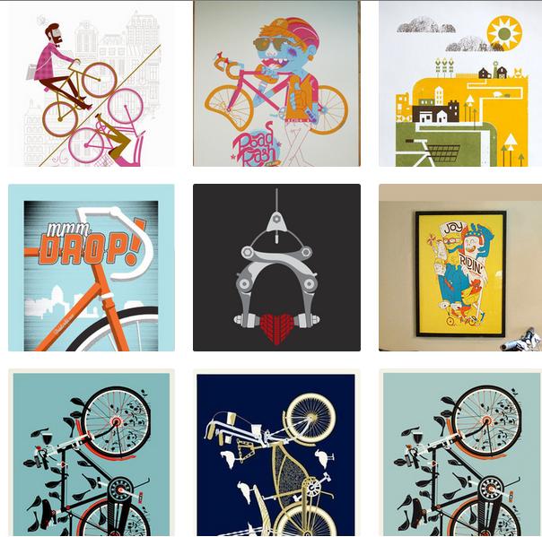 bike poster, bike prints, bikes, ocular invasion, albert + marie, basemint design, iowa bike, bike gifts