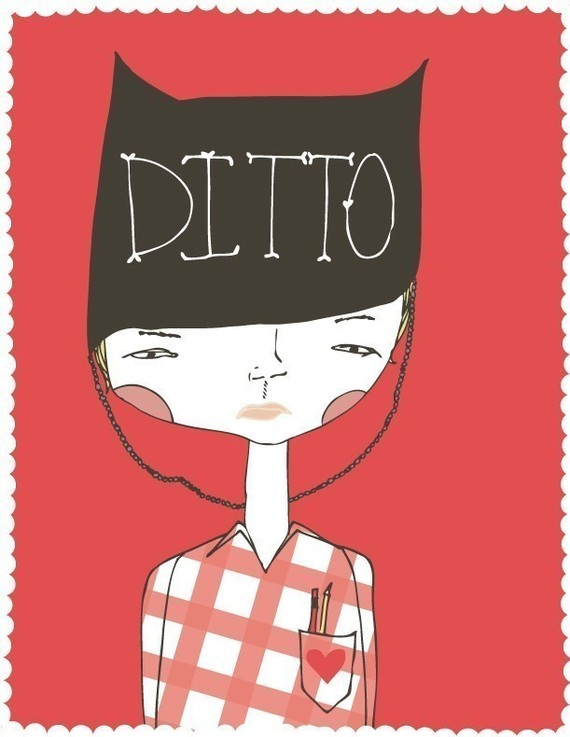 i love you, ditto, twins, love, print, nursery, decor, walls, wall art, red