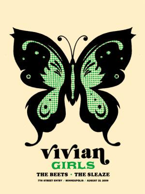 vivan girls, amy jo, gigposter, minneapolis