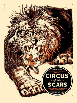 circus of the scars, tiger, amy jo, gigposter, minneapolis