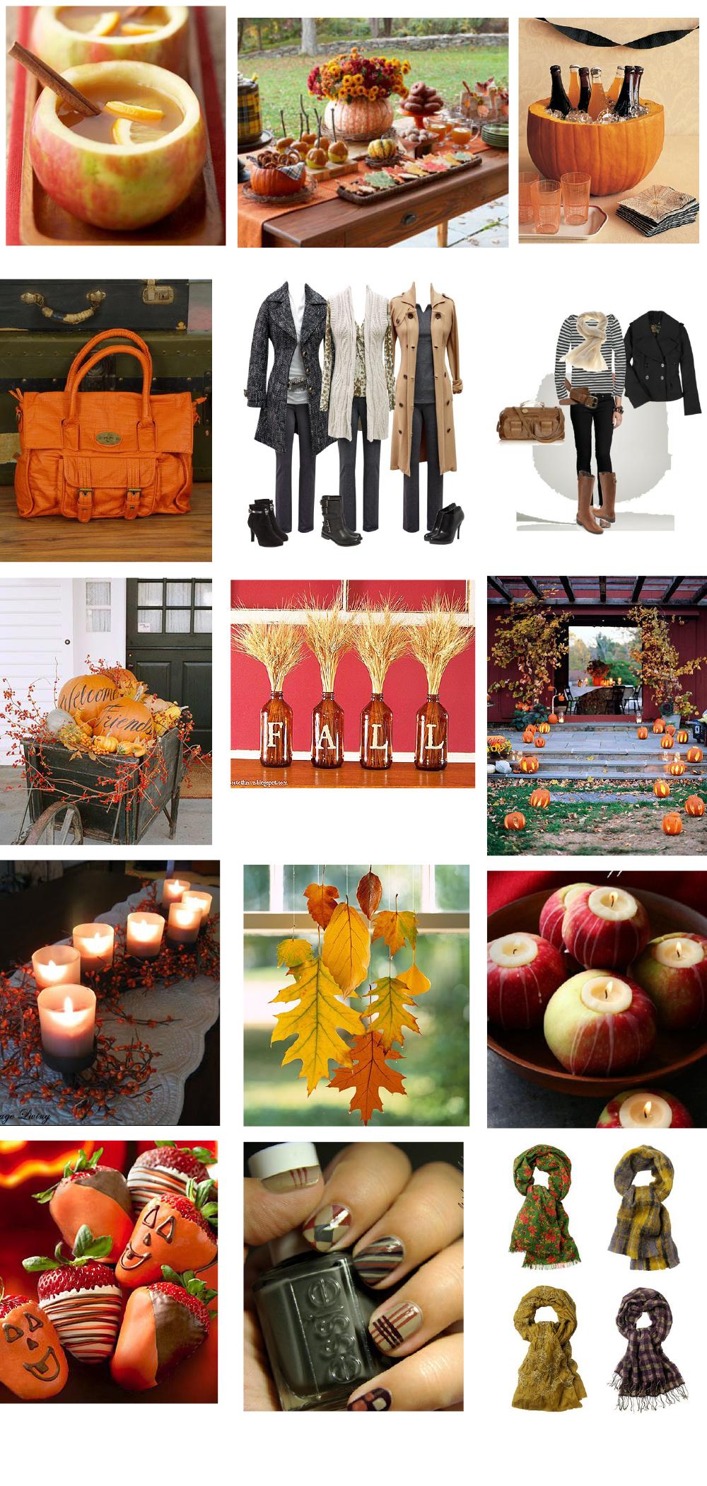 fall fashion, fall party, fall food