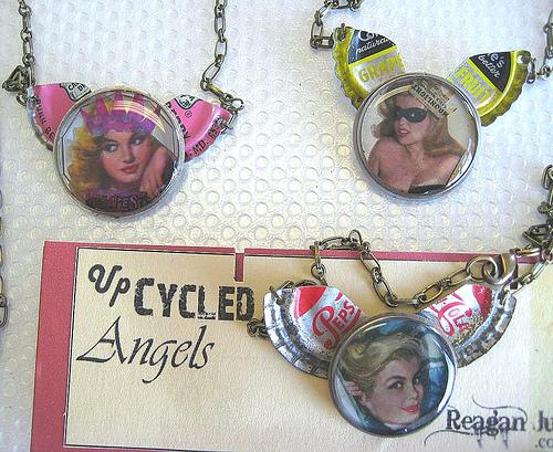 vintage jewelry, pinup girls, handmade jewelry, necklace,