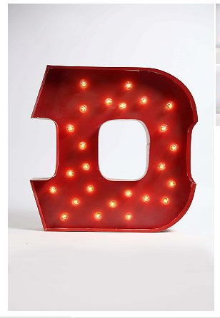 Urban Outfitters Marquee Letter D