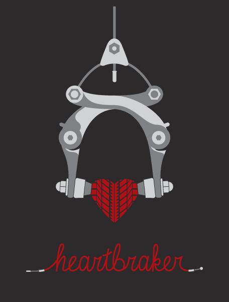 chad kriz, heartbreaker, heartbraker, heartbraker poster, heartbreaker poster, bike posters, bike prints, domestica