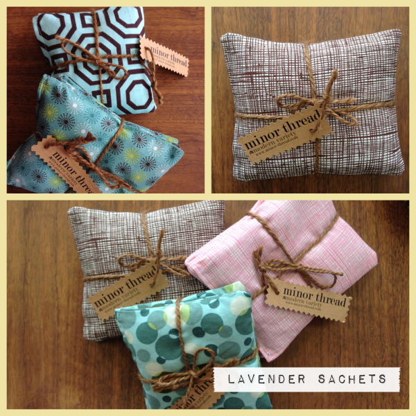 minor thread, charlie wright, domestica, sachets, lavender, bride gifts, mother's day gifts
