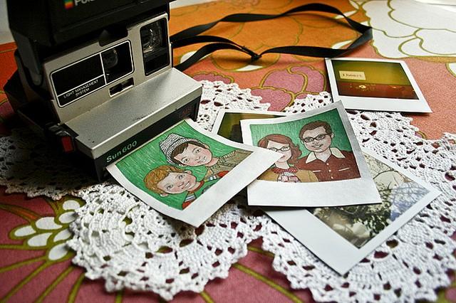 hand drawn, polaroid, portrait, pet portraits, custom portraits