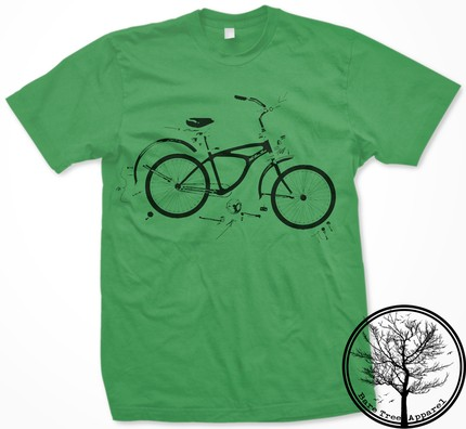 bare tree exploded bike tee