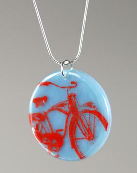 kiku handmade bicycle bike necklace