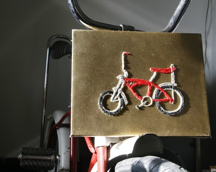 True Partners in craft needlepoint embroidery bike