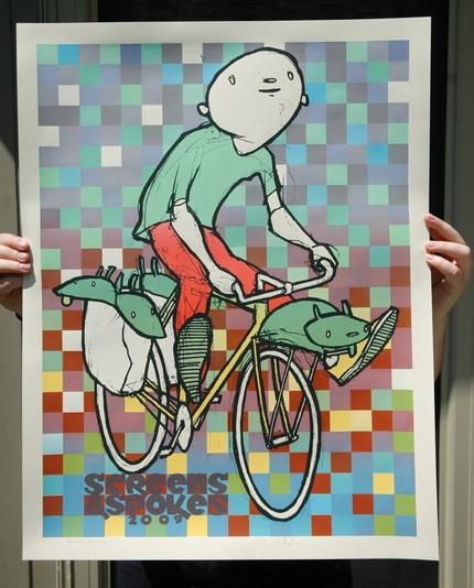 screenspokes screen print bikes MS Awareness