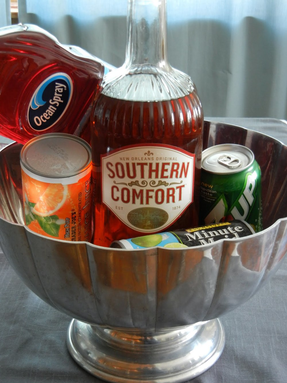 new years, drink recipe, punch, cocktails, southern comfort, party