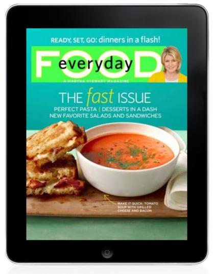 everyday food, ipad app, martha stewart, recipe app, diet recipes
